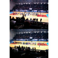 Photo taken at Salle Omnisports d'Hammamet by Ihssen B. on 12/19/2015
