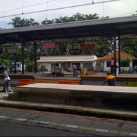 Photo taken at Stasiun Jatinegara by Irma C. on 3/14/2013