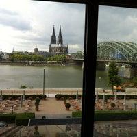 Photo taken at Hyatt Regency Cologne by Mark C. on 8/20/2013