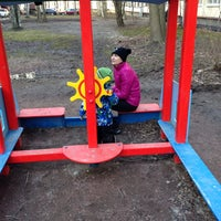 "Photo taken at Детская площадка ""У Бабки Ежки"" by Нина А. on 3/11/2014"