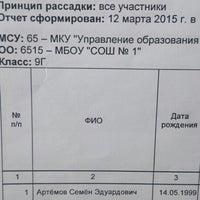 Photo taken at Школа № 1 by Татьяна К. on 3/13/2015