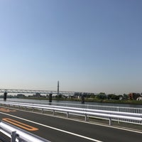 Photo taken at 飯塚橋 by Shyam P. on 5/7/2017