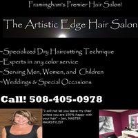 Photo taken at The Artistic Edge Hair Salon by Jennifer B. on 1/24/2014