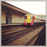 Photo taken at Feltham Railway Station (FEL) by Alyss R. on 3/15/2013