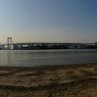 Photo taken at Odaiba Marine Park by ___________________'s on 5/14/2013