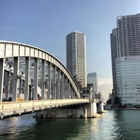 Photo taken at Kachidoki Bridge by ___________________'s on 2/7/2013