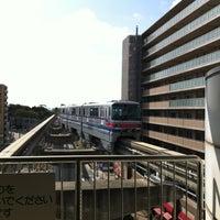 Photo taken at Osaka Monorail Hotarugaike Station by チロル on 4/8/2013