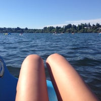 Photo taken at Green Lake Boathouse by Arushi D. on 7/13/2014
