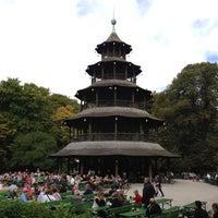 Photo taken at Biergarten am Chinesischen Turm by adam e. on 10/2/2012