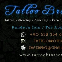 Photo taken at Tattoo Brothers by Zafer Ö. on 1/6/2017