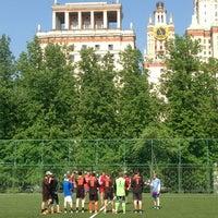 Photo taken at Футбольное поле МГУ by Marusya on 5/18/2013