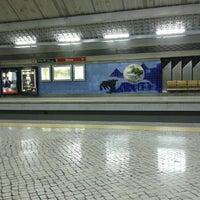 Photo taken at Metro Olivais [VM] by Pedro C. on 10/28/2012
