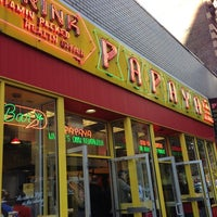 Photo taken at Papaya King by Todd M. on 10/13/2012