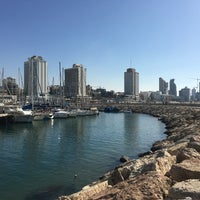 Photo taken at Tel Aviv Marina promenade by Tatiana K. on 11/10/2017
