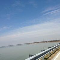 Photo taken at Dam Over Lake Grapevine by Jun K. on 3/24/2014