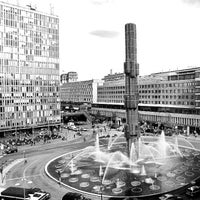 Photo taken at Sergels Torg by José Luis V. on 11/21/2012