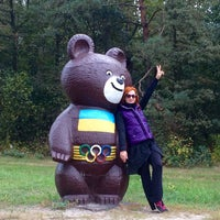 Photo taken at Олімпійский ведмедик / Olimpic Bear Monument by Lelya on 9/25/2016