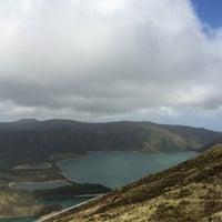 Photo taken at Miradouro da Lagoa do Fogo by Eduardo R. on 3/29/2014