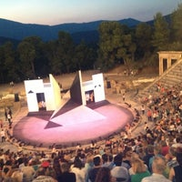 Photo taken at Epidaurus Ancient Theatre by Mandy D. on 7/20/2013