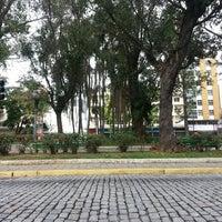 Photo taken at Praça Getulio Vargas  Nova friburgo by Thatiana V. on 3/30/2014