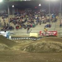 Photo taken at Super Motocross St-antonin by Pierre-Luc D. on 8/18/2013