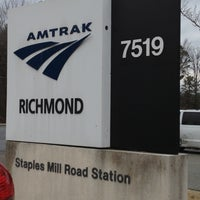 Photo taken at Richmond - Staples Mill Road Amtrak Station (RVR) by Angela L. on 1/1/2013