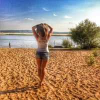 Photo taken at Пляж Волги by Nelya M. on 8/13/2014
