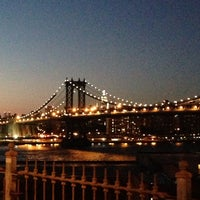 Photo taken at Brooklyn Bridge Promenade by Torrence on 8/15/2013