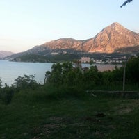 Photo taken at Eğirdir Plaj by Esra C. on 5/13/2014