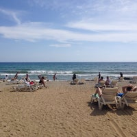 Photo taken at Hedef Beach Plaj by Sena on 5/18/2014