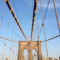 Photo taken at Brooklyn Bridge Promenade by L B. on 5/21/2013