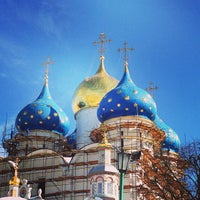 Photo taken at The Holy Trinity-St. Sergius Lavra by Alyona Komarova on 3/12/2013