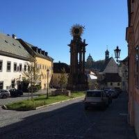 Photo taken at Námestie sv. Trojice by Pavol H. on 10/27/2014