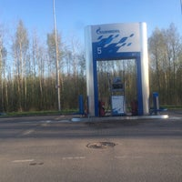 Photo taken at Газпромнефть АЗС № 25 by Екатерина С. on 5/9/2015