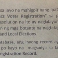 Photo taken at COMELEC Quezon City by Voltaire V. on 12/23/2015