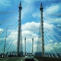 Photo taken at Penang Bridge by Lady Fafay on 2/11/2013