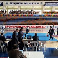 Photo taken at Selçuklu Belediyesi Spor Salonu by Ataberk Ş. on 2/16/2014