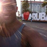 "Photo taken at ""I Love Aruba"" Sign by Jerrel B. on 8/1/2013"