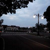Photo taken at Bunderan kantor gubernur jambi by Stefanus B. on 8/1/2014