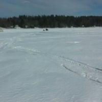 Photo taken at Oak Pond, Skowhegan by Philip D. on 3/2/2014