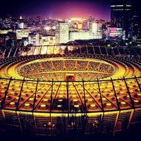 Photo taken at Olimpiyskiy Stadium by Roman G. on 10/28/2013