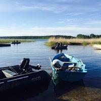 Photo taken at Ольховское озеро by Anastasía Ru on 6/13/2015