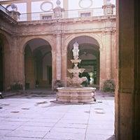 Photo taken at Patio de la fuente Rectorado by Alejandro G. on 4/2/2014