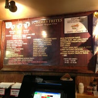 Photo taken at Pommes Frites by Hank L. on 2/9/2013