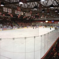Photo taken at Lynah Rink by Mark G. on 10/27/2012