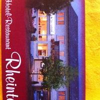 Photo taken at Rheintal Restaurant & Hotel by Alan W. on 9/19/2013