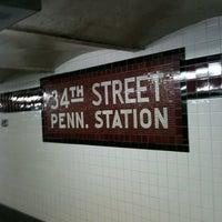 Photo taken at MTA Subway - 34th St/Penn Station (A/C/E) by Fulvio G. on 12/15/2012