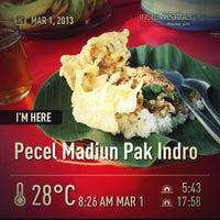 Photo taken at Pecel Madiun Pak Indro by superdogye 🐶 on 3/1/2013