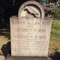 Photo taken at Grave of Edgar Allan Poe by jnozsc on 9/1/2013