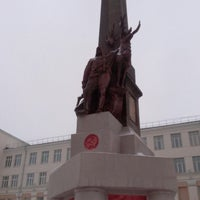 Photo taken at Обелиск Севера by Алена Г. on 1/4/2018